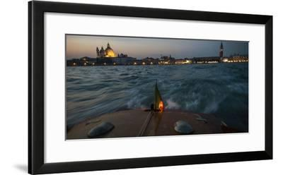 The Piazza San Marco from a Water Taxi on the Giudecca Canal-Stephen Alvarez-Framed Photographic Print
