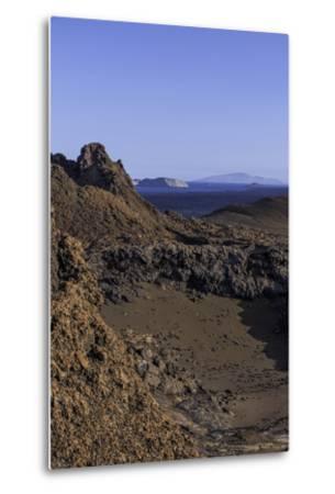Spatter Cones and Rough Volcanic Landscape on Bartolome Island-Jad Davenport-Metal Print