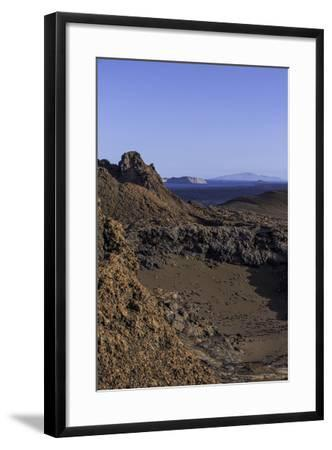 Spatter Cones and Rough Volcanic Landscape on Bartolome Island-Jad Davenport-Framed Photographic Print