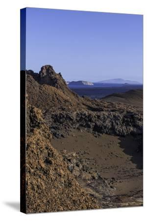 Spatter Cones and Rough Volcanic Landscape on Bartolome Island-Jad Davenport-Stretched Canvas Print