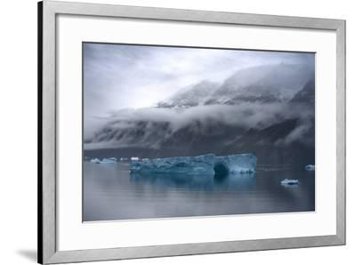 Large Icebergs in Scoresby Sound, Greenland-Raul Touzon-Framed Photographic Print