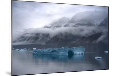 Large Icebergs in Scoresby Sound, Greenland-Raul Touzon-Mounted Photographic Print