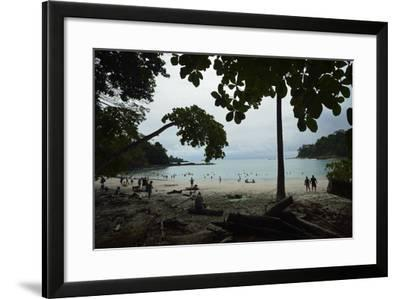 Half Moon Beach, in Manuel Antonio National Park, Costa Rica-Jonathan Kingston-Framed Photographic Print