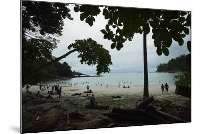 Half Moon Beach, in Manuel Antonio National Park, Costa Rica-Jonathan Kingston-Mounted Photographic Print