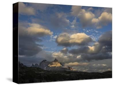 The Cordillera Paine Mountain in Torres Del Paine National Park on the Right-Jay Dickman-Stretched Canvas Print