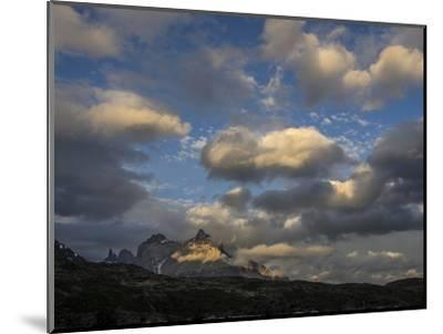 The Cordillera Paine Mountain in Torres Del Paine National Park on the Right-Jay Dickman-Mounted Photographic Print