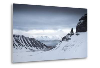 View to the Sea from Inside a Fjord-Chad Copeland-Metal Print