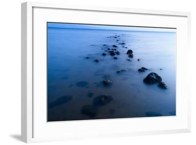 The Remains of a Historic Hawaiian Fish Pond Lead the Eye into the Kalohi Channel-Jonathan Kingston-Framed Photographic Print