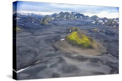 An Aerial View of a Canyon in the Interior of Southern Iceland-Keith Ladzinski-Stretched Canvas Print