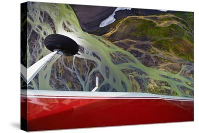 An Aerial View of Streams of Glacier Runoff, known as Lahar, in of Southern Iceland-Keith Ladzinski-Stretched Canvas Print