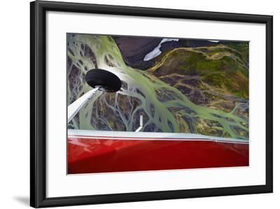 An Aerial View of Streams of Glacier Runoff, known as Lahar, in of Southern Iceland-Keith Ladzinski-Framed Photographic Print