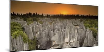 An Aerial View of Limestone Karst Formations in Stone Forest-Chad Copeland-Mounted Photographic Print