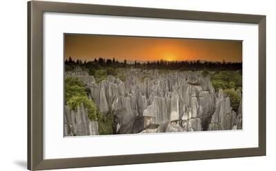 An Aerial View of Limestone Karst Formations in Stone Forest-Chad Copeland-Framed Photographic Print