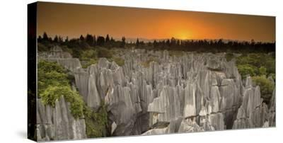 An Aerial View of Limestone Karst Formations in Stone Forest-Chad Copeland-Stretched Canvas Print