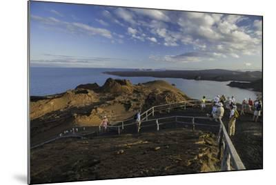 A Group of Tourists Hiking on Bartolome Island-Jad Davenport-Mounted Photographic Print