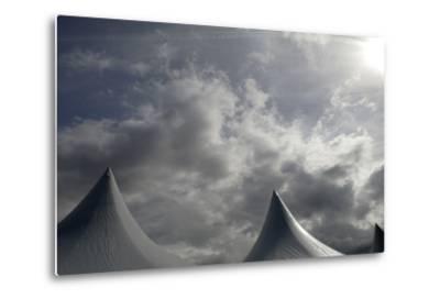 Tents Against Sky-Tyrone Turner-Metal Print