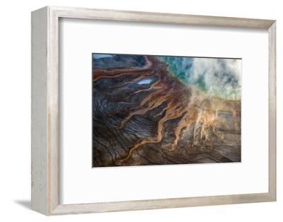 Grand Prismatic Spring in Yellowstone National Park's Middle Geyser Basin-Michael Nichols-Framed Photographic Print