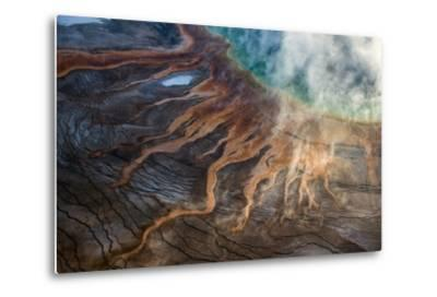 Grand Prismatic Spring in Yellowstone National Park's Middle Geyser Basin-Michael Nichols-Metal Print