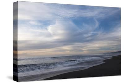 Sunset on Gold Bluffs Beach at Prairie Creek Redwoods State Park-Krista Rossow-Stretched Canvas Print