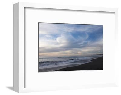Sunset on Gold Bluffs Beach at Prairie Creek Redwoods State Park-Krista Rossow-Framed Photographic Print