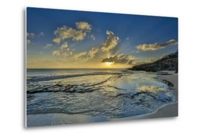 A Tidal Shelf on Kawakiu Nui Beach on Molokai's West End-Richard A^ Cooke-Metal Print