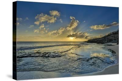 A Tidal Shelf on Kawakiu Nui Beach on Molokai's West End-Richard A^ Cooke-Stretched Canvas Print