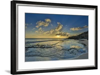 A Tidal Shelf on Kawakiu Nui Beach on Molokai's West End-Richard A^ Cooke-Framed Photographic Print