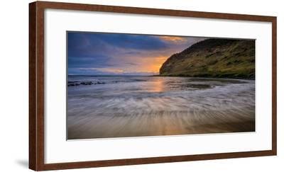 Halawa Beach on Molokai's East End-Richard A^ Cooke-Framed Photographic Print