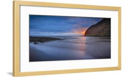 Panoramic of Halawa Beach on Molokai's East End-Richard A^ Cooke-Framed Photographic Print