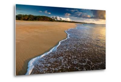 Sunset Above Papohaku Beach on Molokai's West End-Richard A^ Cooke-Metal Print