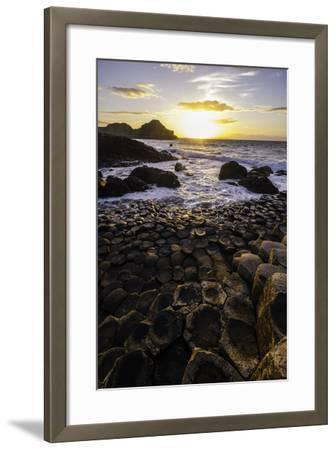 Giant's Causeway Lies at the Foot of Basalt Cliffs on the Edge of the Antrim Plateau-Jonathan Irish-Framed Photographic Print