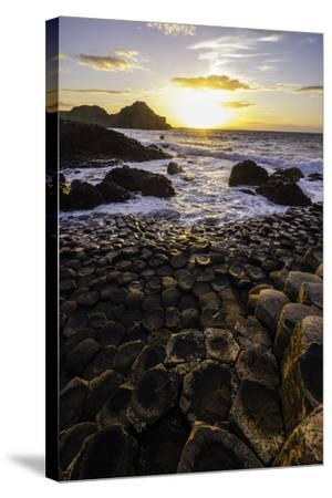 Giant's Causeway Lies at the Foot of Basalt Cliffs on the Edge of the Antrim Plateau-Jonathan Irish-Stretched Canvas Print