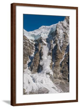 Avalanche Off of the Ling Trin Face-Max Lowe-Framed Photographic Print