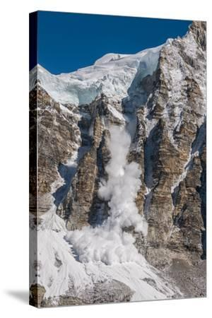 Avalanche Off of the Ling Trin Face-Max Lowe-Stretched Canvas Print