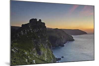 A Dusk View of the Cliffs at the Valley of Rocks, Lynton, Exmoor National Park, Devon-Nigel Hicks-Mounted Photographic Print