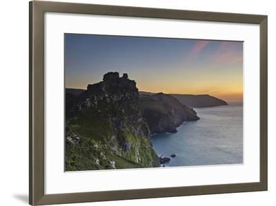 A Dusk View of the Cliffs at the Valley of Rocks, Lynton, Exmoor National Park, Devon-Nigel Hicks-Framed Photographic Print