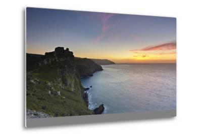 A Dusk View of the Cliffs at the Valley of Rocks, Lynton, Exmoor National Park, Devon-Nigel Hicks-Metal Print