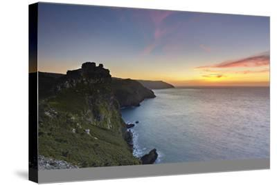 A Dusk View of the Cliffs at the Valley of Rocks, Lynton, Exmoor National Park, Devon-Nigel Hicks-Stretched Canvas Print