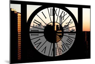 Giant Clock Window - City View at Sunset with the One World Trade Center-Philippe Hugonnard-Mounted Photographic Print