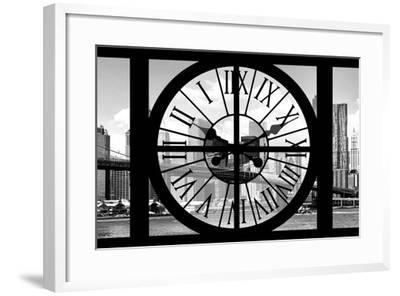 Giant Clock Window - City View with Brooklyn Bridge - New York City III-Philippe Hugonnard-Framed Photographic Print