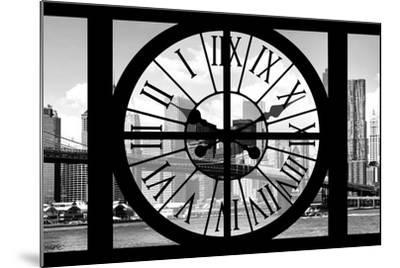 Giant Clock Window - City View with Brooklyn Bridge - New York City III-Philippe Hugonnard-Mounted Photographic Print