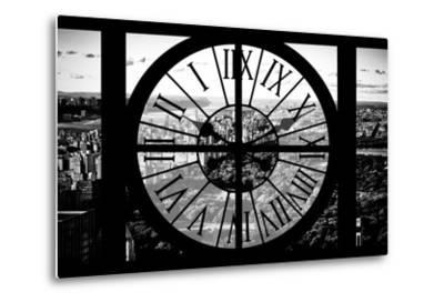 Giant Clock Window - View of Central Park II-Philippe Hugonnard-Metal Print