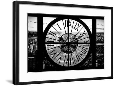 Giant Clock Window - View of Central Park II-Philippe Hugonnard-Framed Photographic Print