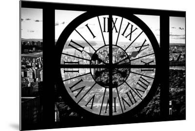 Giant Clock Window - View of Central Park II-Philippe Hugonnard-Mounted Photographic Print