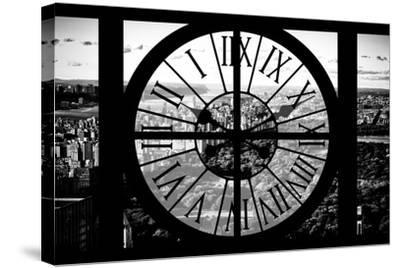 Giant Clock Window - View of Central Park II-Philippe Hugonnard-Stretched Canvas Print