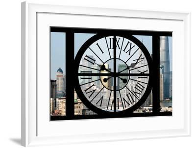 Giant Clock Window - View of Downtown Shanghai - China-Philippe Hugonnard-Framed Photographic Print