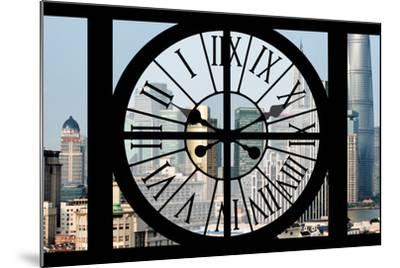Giant Clock Window - View of Downtown Shanghai - China-Philippe Hugonnard-Mounted Photographic Print