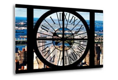 Giant Clock Window - View of Harlem - New York-Philippe Hugonnard-Metal Print