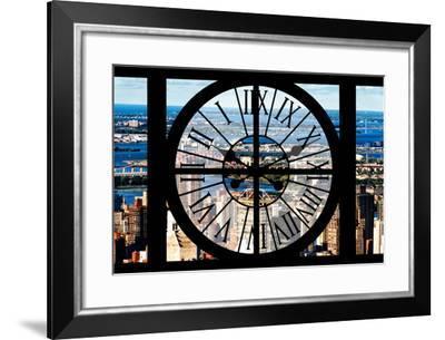 Giant Clock Window - View of Harlem - New York-Philippe Hugonnard-Framed Photographic Print