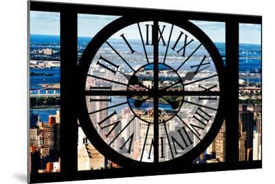 Giant Clock Window - View of Harlem - New York-Philippe Hugonnard-Mounted Photographic Print